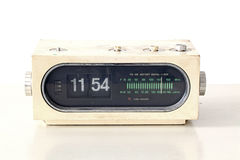 Vintage clock radio set Royalty Free Stock Photos