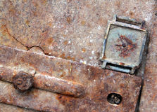 Vintage clock on a rusty background Stock Images