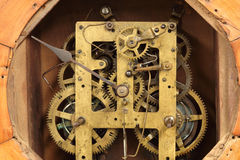 Vintage clock's gears Stock Image