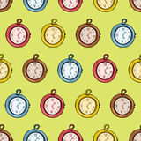 Vintage clock seamless pattern Royalty Free Stock Images