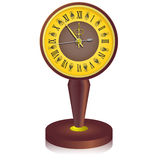 The vintage  clock shortly before midnight. Royalty Free Stock Photos