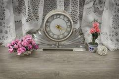 Vintage clock still life Stock Image