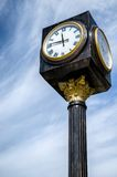 Vintage clock in the street Royalty Free Stock Photography