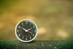 Vintage clock used for timing concept. Vintage clock used for timing and business concept royalty free stock images