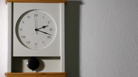Clock on the wall. Vintage Clock on the wall stock video footage