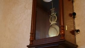 Vintage clock on the wall.  stock video