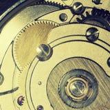 Vintage clock works stock photos