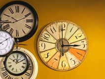 Vintage clocks Stock Photography