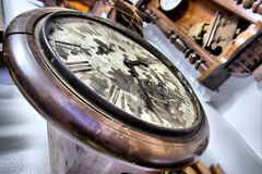 Vintage clocks - close-up. Royalty Free Stock Image