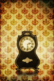 Vintage clocks on grungy background Stock Photo