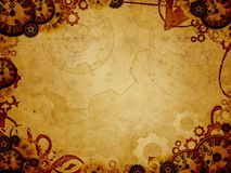Vintage clocks steam punk background Royalty Free Stock Photography