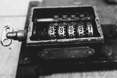 Vintage clockwork counter Royalty Free Stock Photography