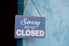 Vintage closed sign Stock Images