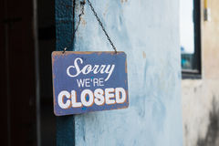 Vintage closed sign Stock Photos