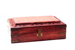 Vintage closed wooden box Stock Photography
