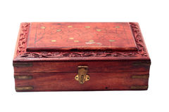 Vintage closed wooden box Stock Images
