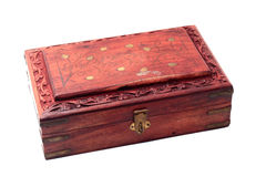 Vintage closed wooden box Stock Photos