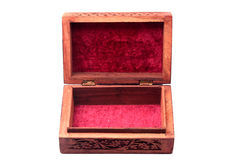 Vintage closed wooden box Royalty Free Stock Images