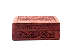 Vintage closed wooden box Stock Photo