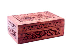 Vintage closed wooden box Royalty Free Stock Image