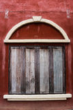 Vintage closed wooden window Royalty Free Stock Photos