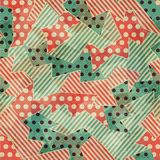 Vintage cloth geometric seamless texture Stock Image