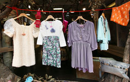 Vintage clothes market Stock Image