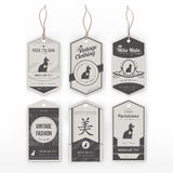Vintage clothing tags Stock Image