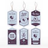 Vintage clothing tags Royalty Free Stock Photography