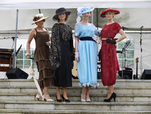 Vintage Clothing Women, Vintage Style Fashion Show  Royalty Free Stock Images