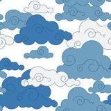Vintage cloud Chinese  seamless pattern. Vintage blue cloud Chinese  seamless pattern Royalty Free Stock Photography