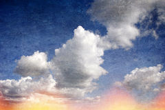 Vintage clouds background Stock Images