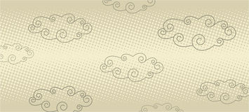 Vintage clouds Royalty Free Stock Photography