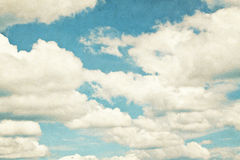 Vintage clouds and sky background. Royalty Free Stock Images