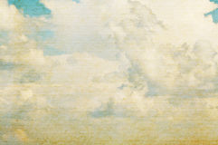 Vintage clouds and sky background. Stock Photo