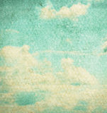 Vintage clouds and sky background. Stock Photos