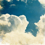 Vintage clouds sky image. Royalty Free Stock Images