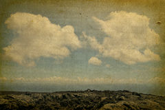 Vintage Cloudscape Illustration Royalty Free Stock Photo