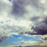Vintage cloudy blue sky Stock Images