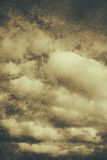 Vintage cloudy sky. Old day background Stock Image