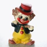 Vintage clown figurine. Royalty Free Stock Photography