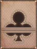 Vintage clubs poker card Stock Image