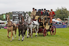 Vintage coach and horse team Royalty Free Stock Photo