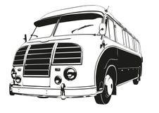 Vintage Coach Silgouette Vector Illustration Royalty Free Stock Photos