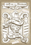 Vintage Coat of Arm for Bar or Restaurant Royalty Free Stock Photography