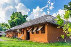 Vintage cob house with garden in Chinese village, Thailand Royalty Free Stock Photography