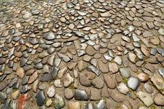 Vintage cobblestone road Royalty Free Stock Image