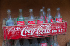 Vintage coca-cola crate Stock Photo