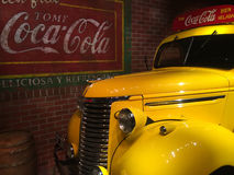 Vintage Coca-Cola delivery truck. Royalty Free Stock Images