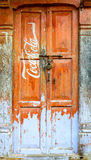 Vintage Coca-Cola sign on a door Stock Photos